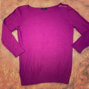 Violet Colored 31/4 sleeve with Shoulder Zipper